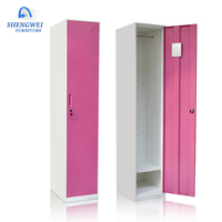 2017 Customized colorful gym sports steel single door gym locker mini metal locker