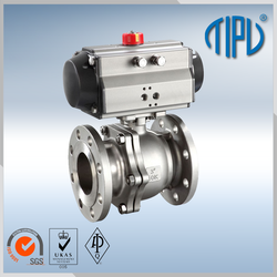 Medium pressure Worm Gear long stem ball valve for gas