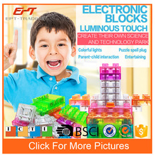 Electronic funny blocks play set kids building blocks set for sale
