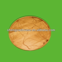 Top quality antique biodegradable bamboo fiber round tray
