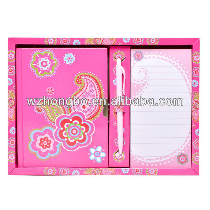 pink children school stationery set/student stationery set
