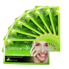 Green design teeth whitening strips wholesale white private label crest best home tooth whitening strips