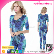 Fany Printed New Design Online Shopping Ladies Sexy Jumpsuit Pattern