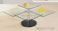 Low price hot-sale led bar table glass /glass banquet table/glass dining table