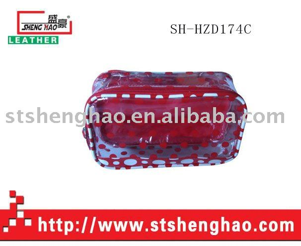 Poly bag clear PVC cosmetic bag purse lady