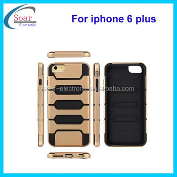2 in 1 pc &tpu combo case for iphone 6 plus double layer phone case for iphone 6 plus