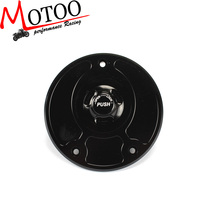 Motoo - Motorcycle New CNC Aluminum Fuel Gas CAPS Tank Cap tanks Cover With Rapid Locking For Kawasaki Z750 Z1000 ZX-10R ZX-9R