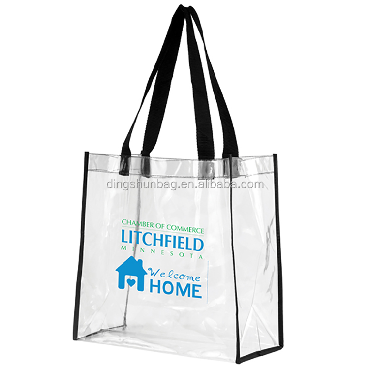 Customized Clear beach blanket wenzhou sand proof Tote pvc plastic durable gift bag