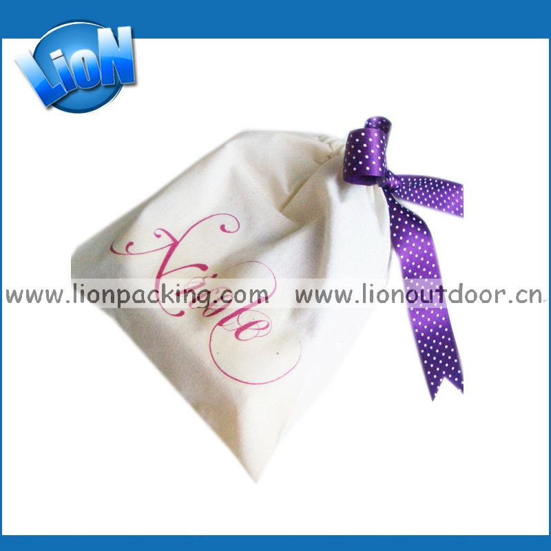 Pretty cotton satin hair packaging pouch bag wholesale on sale
