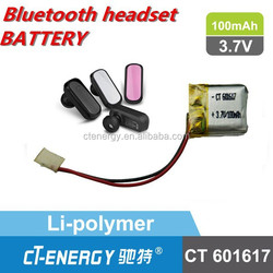 Lithium polymer battery 3.7v 100mah Small size with high capacity battery
