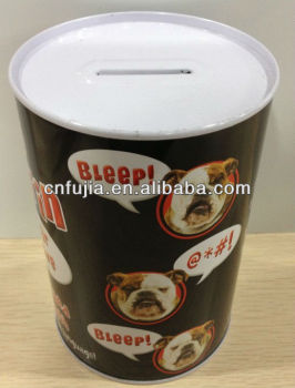 Metal Tin Box, customized printed money box