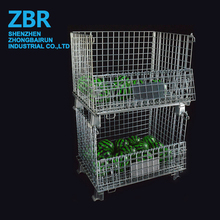 Logistic Equipment Welded Folding Projector Security Storage Butterfly Cage Steel Box Pallet