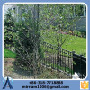 2015 decorative wall wrought iron/metal fence for boundary wall/3 rails steel fence