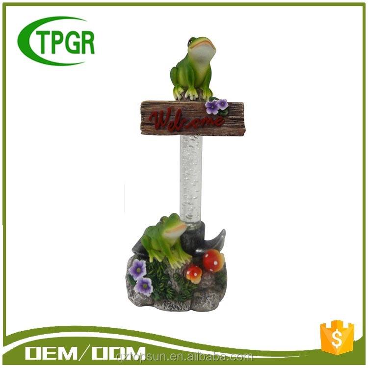 2017 Trending Products Garden Decoration Items Frog Decor Solar Garden Lamp Light