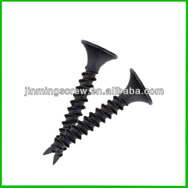 Widely use black ash phosphate drywall screws