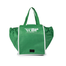 Easy carrying reusable non woven grab shopping cart bag