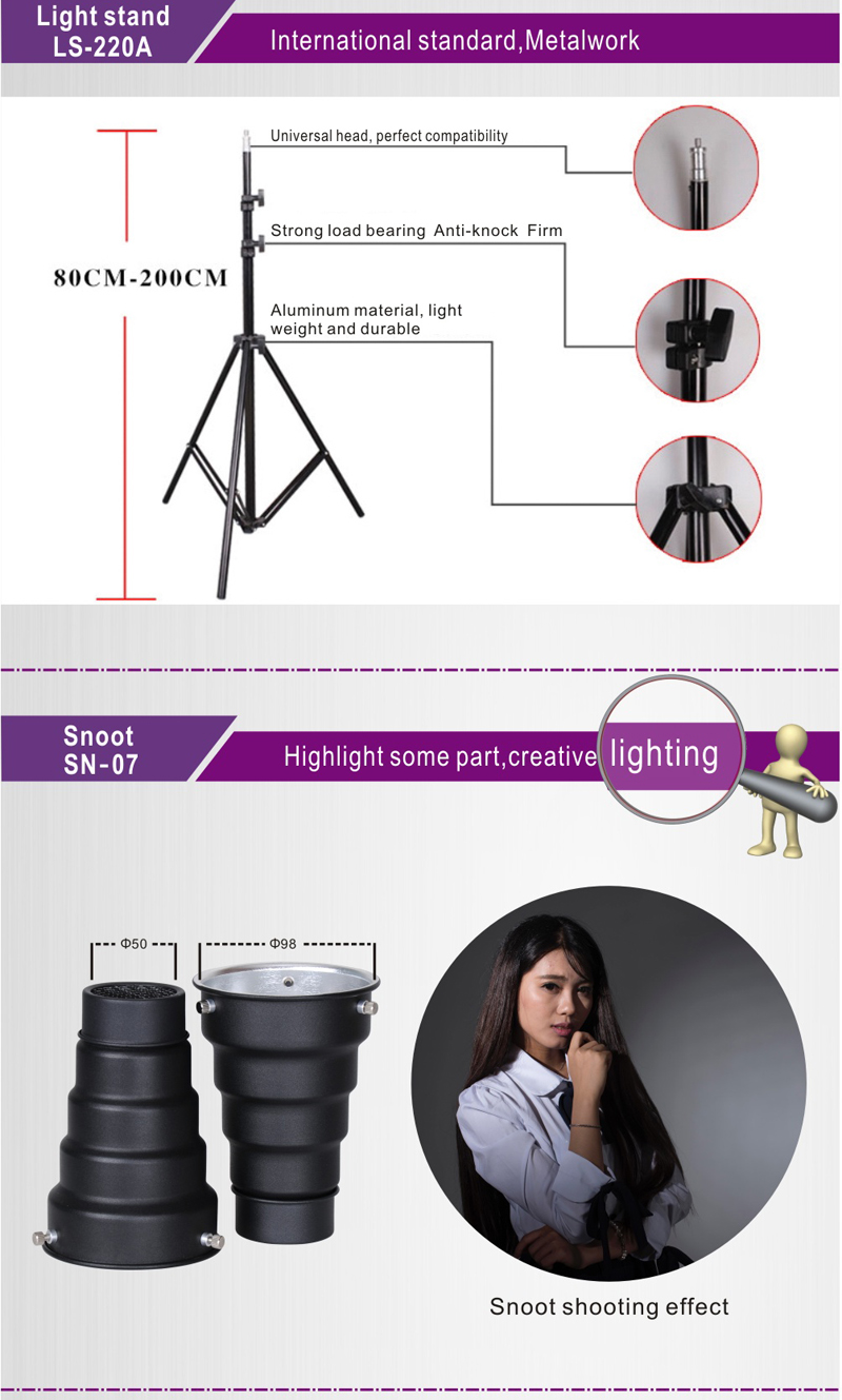 Nicefoto equipo fotográfico photo studio Kit de luz KT-603