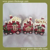 Wholesale ceramic outdoor christmas train decoration