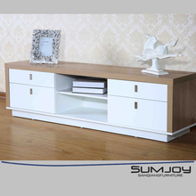 SUMJOY modern wrought iron tv stand wooden tv rack designs
