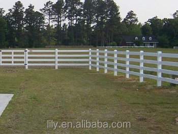 Cheap PVC cattle fence, goat fence panel, plastic fence rail fence