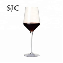 Customized logo crystal <strong>flat</strong> bottom wine glass exporter for sale