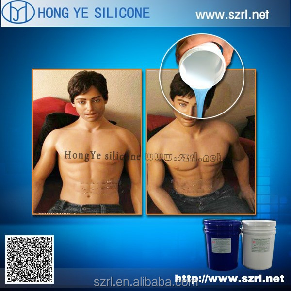 Rtv silicone rubber for sex toys and men dolls making