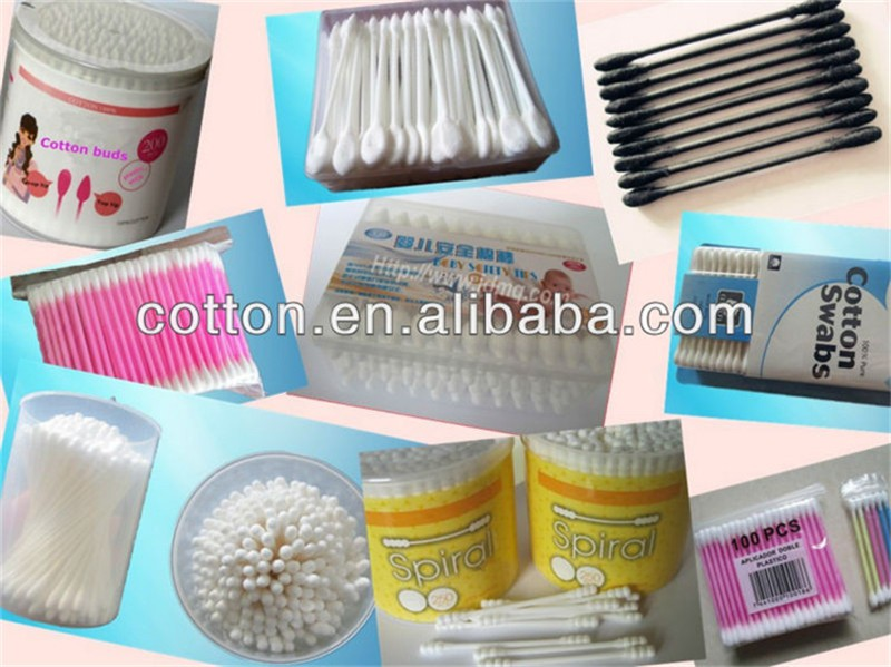 200PCS OEM ODM Design Paper Stick Cotton Buds Swabs In PE Bag