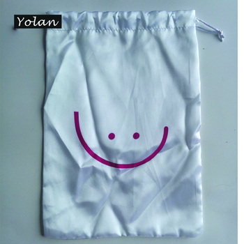 NewProducts Customized Printed Drawstring Gift Satin Bag