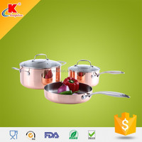 2015 Hot custom 5pcs stainless steel cookware best stainless steel pans