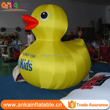 Custom made advertising giant inflatable yellow duck model with cheap price