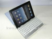 HOT! Ultrathin Metal Aluminum Case Transparent Cover Mobile Bluetooth Wireless Keyboard for iPad 2 KOA030