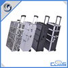 New Products Wheeled Makeup Cosmetic Carrying Cases Rolling Aluminum Trolley Case MLD-AC470