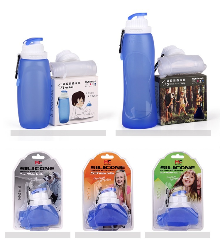 Heat-Resistant Leakproof Silicone Collapsible Water Bottle