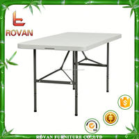 metal frame folding table plastic outdoor table tops