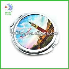 FLORAL CROSS - POCKET MIRROR