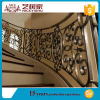 factory sale outdoor wrought iron stair railing/balcony railing parts for veranda