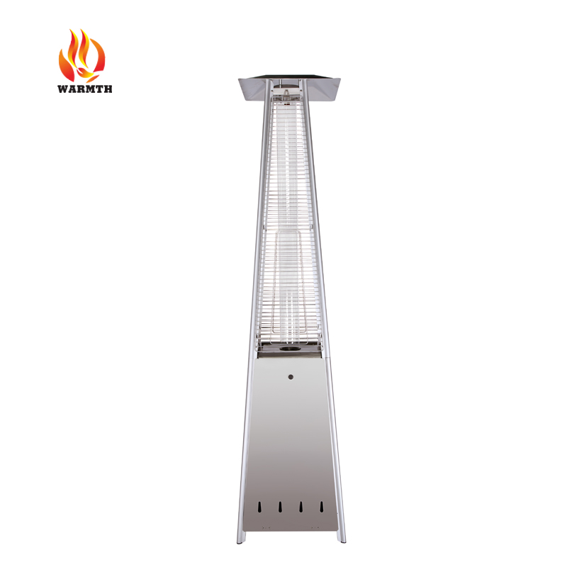 Outdoor quartz tube pyramid flame natural gas patio heater with CE approved, pyramid patio heater