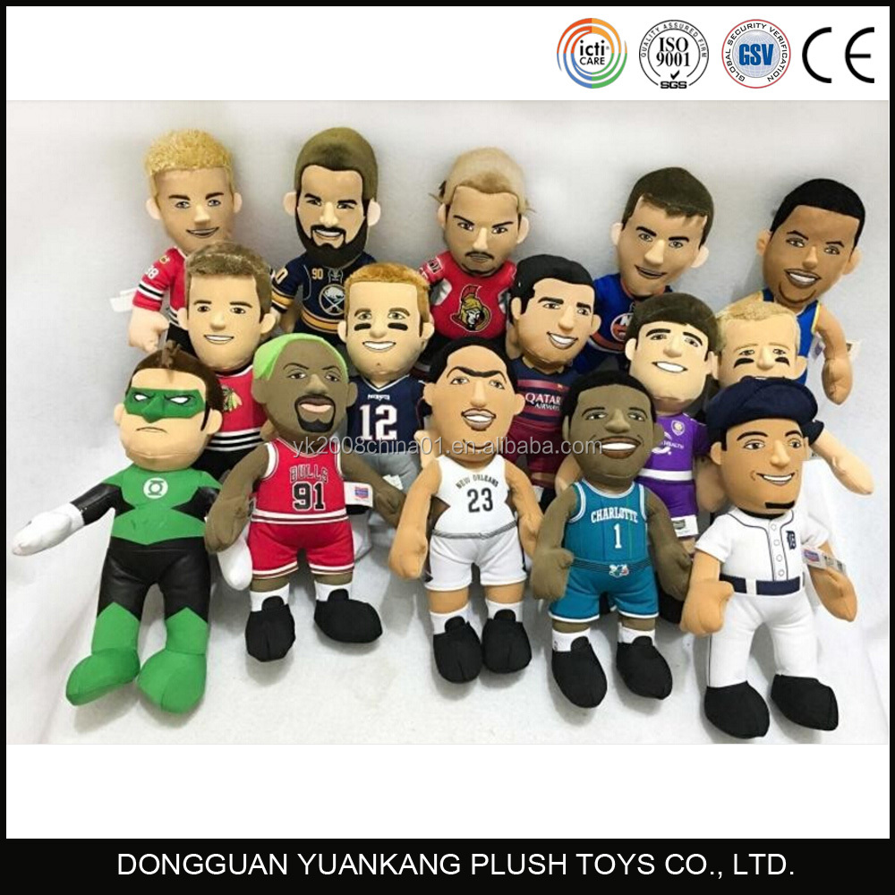 Mini stuffed plush football athlete super star player team toys