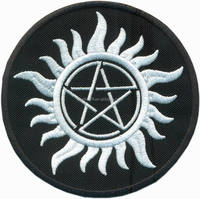 Anti Demon Supernatural Witchcraft Iron on Patch Badge