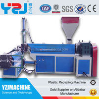 NEW PP and PE double-screw waste plastic granulator