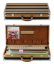 Singapore Mahjong Set Leather Storage Box with Accessories