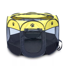 Portable foldable large dog backyard kennels and pet carrier