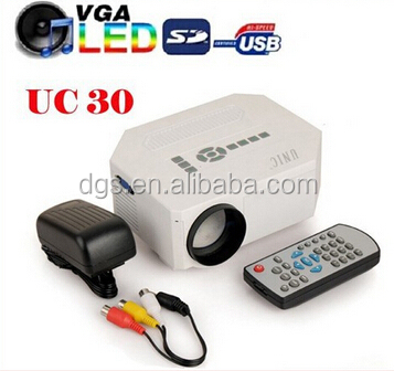 Mini Projector UC30 Pocket LED Projector 150 Lumens 640*480P Native 100'' Screen Video Game Projector