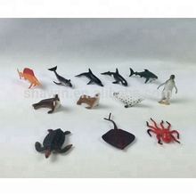 Custom sea simulation sharks/sea lions/penguin/octopus/whalee PVC animals toy
