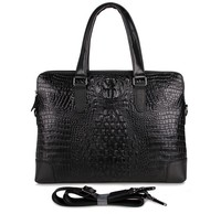 7276A Crocodile Pattern Genuine Cow Leather Unisex Fashion Handbag