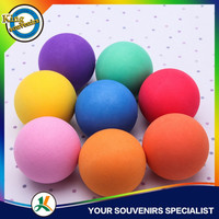 63mm colorful bouncing Eva Foam Ball Jump Souvenirs Rubber Ball Custumized Logo printing Eva Bal