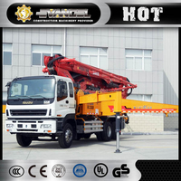 xcmg truck mounted concrete pump hb41 for asean market