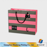 Logo printed luxury paper gift bags wholesale,paper bag printing with silk handle