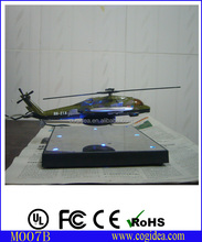 Customized desk decoration knick- knack , AC adaptor floating helicopter model toy