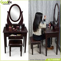 EU standard wooden dressing table with stool wooden dresser